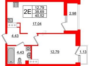 Квартира в ЖК Принцип, 1 комнатная, 42.8 м², 7 этаж