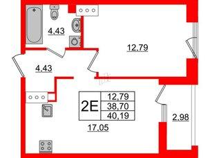 Квартира в ЖК Принцип, 1 комнатная, 41.68 м², 7 этаж