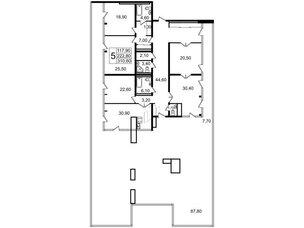 Квартира в ЖК «Стокгольм» / «STOCKHOLM», 5 комнатная, 222.4 м², 7 этаж