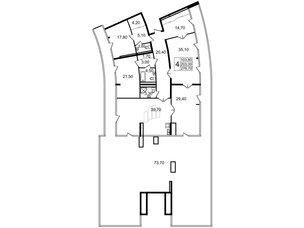 Квартира в ЖК «Стокгольм» / «STOCKHOLM», 3 комнатная, 199.9 м², 7 этаж