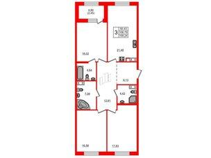 Квартира в ЖК Петровская доминанта, 3 комнатная, 109.24 м², 5 этаж