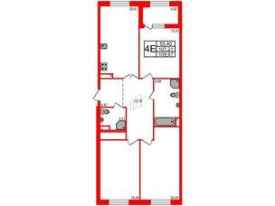 Квартира в ЖК Петровская доминанта, 3 комнатная, 109.67 м², 5 этаж