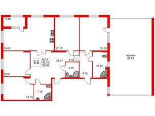 Квартира в ЖК Петровская доминанта, 4 комнатная, 217.56 м², 2 этаж