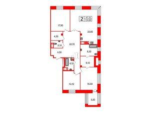 Квартира в ЖК Футурист, 3 комнатная, 133.8 м², 8 этаж