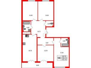 Квартира в ЖК Морская набережная.SeaView, 4 комнатная, 107.7 м², 13 этаж
