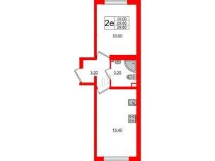 Квартира в ЖК Цветной город, 1 комнатная, 29.8 м², 1 этаж