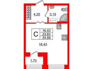 Квартира в ЖК ID Park Pobedy, студия, 24.68 м², 10 этаж