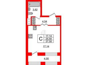 Квартира в ЖК ID Park Pobedy, студия, 27.5 м², 10 этаж