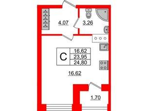 Квартира в ЖК ID Park Pobedy, студия, 24.8 м², 7 этаж