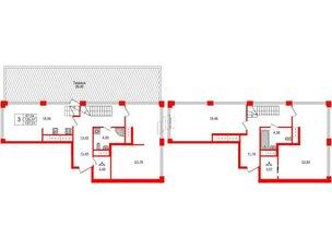 Квартира в ЖК Golden City, 3 комнатная, 137.31 м², 19 этаж