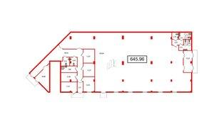 Помещение в ЖК UP-квартал Комендантский, 645.96 м², 1 этаж