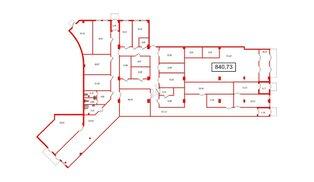 Помещение в ЖК UP-квартал Комендантский, 840.73 м², 1 этаж