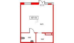 Помещение в ЖК ID Park Pobedy, 57.13 м², 1 этаж
