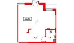 Помещение в ЖК ID Park Pobedy, 66.15 м², 1 этаж