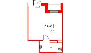 Помещение в ЖК ID Park Pobedy, 41.69 м², 1 этаж