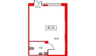 Помещение в ЖК ID Park Pobedy, 41.12 м², 1 этаж
