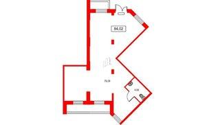 Помещение в ЖК ID Park Pobedy, 84.02 м², 1 этаж