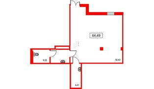 Помещение в ЖК ID Moskovskiy, 64.49 м²