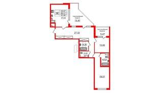 Квартира в ЖК ПАЛАЦИО, 2 комнатная, 84.8 м², 10 этаж
