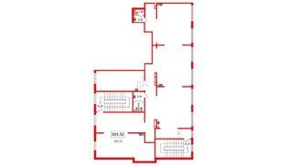 Помещение в ЖК Чистое небо, 328.1 м², 2 этаж