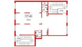 Помещение в ЖК Чистое небо, 207.5 м², 2 этаж