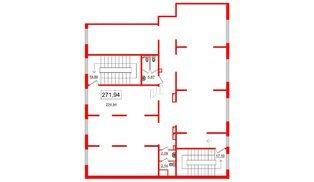 Помещение в ЖК Чистое небо, 300.1 м², 2 этаж