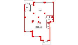 Помещение в ЖК GREENЛАНДИЯ 2, 130.48 м², 1 этаж