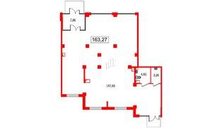 Помещение в ЖК GREENЛАНДИЯ 2, 163.27 м², 1 этаж