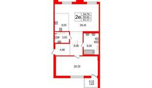 Квартира в ЖК Приоритет, 1 комнатная, 90.02 м², 4 этаж