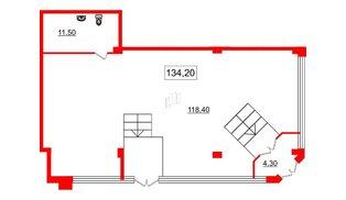 Помещение в ЖК Victory plaza, 134.2 м², 1 этаж