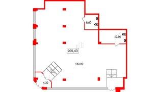 Помещение в ЖК Victory plaza, 205.4 м², 1 этаж