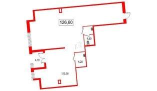 Помещение в ЖК Самоцветы, 127.2 м², 1 этаж