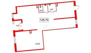 Помещение в ЖК Самоцветы, 126.1 м², 1 этаж