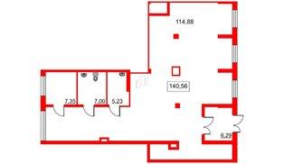 Помещение в ЖК Галактика, 141 м², 2 этаж