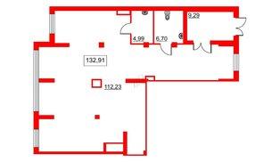 Помещение в ЖК Галактика, 133.1 м², 2 этаж