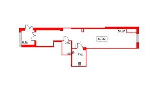 Помещение в ЖК Галактика, 67.6 м², 1 этаж