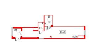Помещение в ЖК Галактика, 69.4 м², 1 этаж