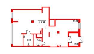 Помещение в ЖК Галактика, 114.5 м², 2 этаж