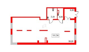 Помещение в ЖК Галактика, 112.7 м², 2 этаж