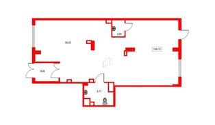Помещение в ЖК GREENЛАНДИЯ 2, 104.11 м², 1 этаж