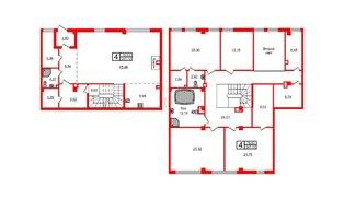 Квартира в ЖК Маленькая Франция, 4 комнатная, 247.21 м², 1 этаж