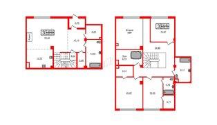 Квартира в ЖК Маленькая Франция, 3 комнатная, 209.7 м², 1 этаж