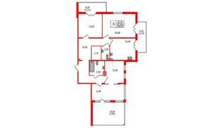 Квартира в ЖК Горки Парк, 3 комнатная, 109.07 м², 4 этаж
