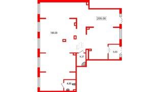 Помещение в ЖК PULSE на набережной, 205 м²