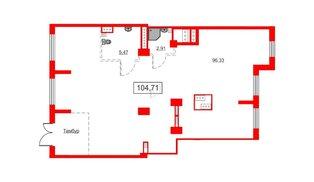 Помещение в ЖК Аквилон Sky, 104.71 м², 1 этаж
