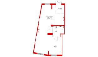 Помещение в ЖК Аквилон Sky, 96.16 м², 1 этаж
