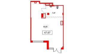 Помещение в ЖК Аквилон Sky, 47.67 м², 1 этаж