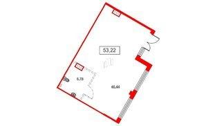 Помещение в ЖК Аквилон Sky, 53.22 м², 1 этаж