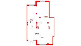 Помещение в ЖК Аквилон Sky, 97.17 м², 1 этаж