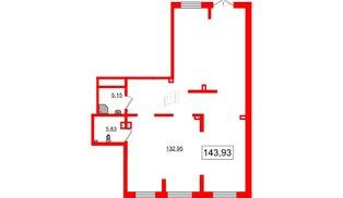 Помещение в ЖК Эмеральд на Малой Неве, 143.93 м², 1 этаж
